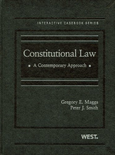 9780314189950: Constitutional Law: A Contemporary Approach Interactive Casebook