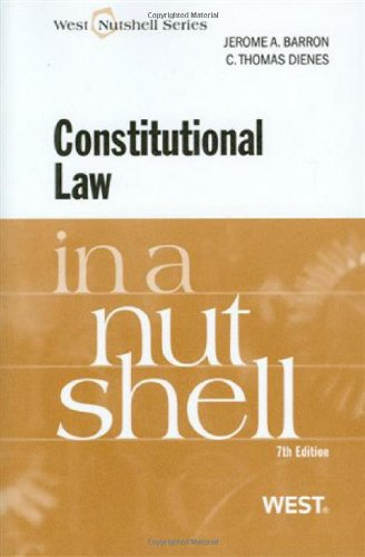 9780314190284: Constitutional Law in a Nutshell, 7th (Nutshell Series)
