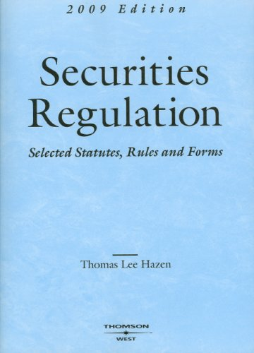 9780314190741: Securities Regulation, Selected Statutes, Rules and Forms (Academic Statutes)