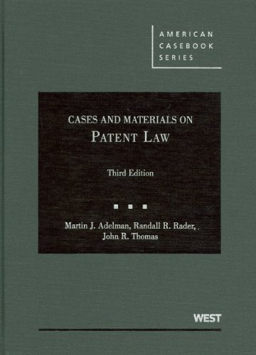 9780314190826: Cases and Materials on Patent Law (American Casebook) (American Casebook Series)