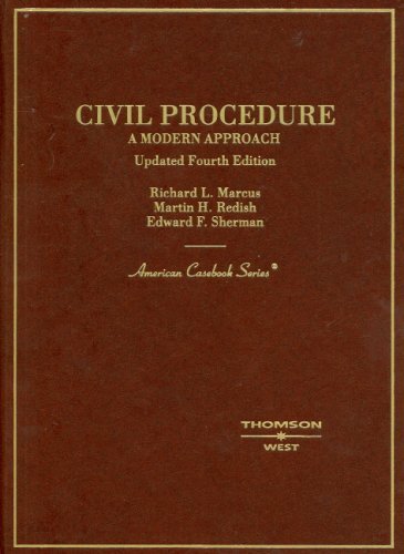 9780314191014: Civil Procedure: A Modern Approach, Updated 4th Edition