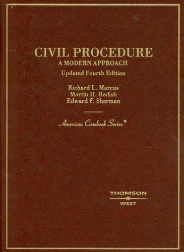 9780314191014: Civil Procedure: A Modern Approach, Updated 4th Edition