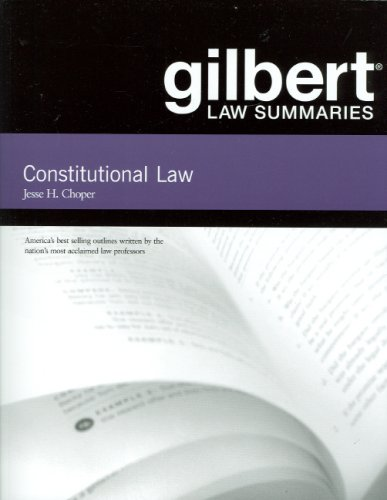 9780314191397: Gilbert Law Summaries on Constitutional Law