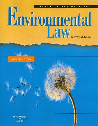 9780314194435: Black Letter Outline on Environmental Law (Black Letter Outlines)