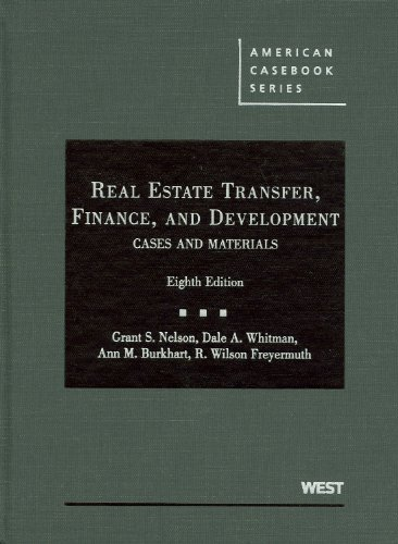 9780314194466: Real Estate Transfer, Finance, and Development (American Casebooks) (American Casebook Series)