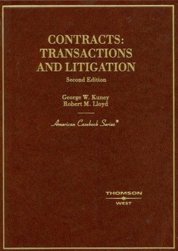 9780314194558: Contracts: Transactions and Litigation (American Casebook)