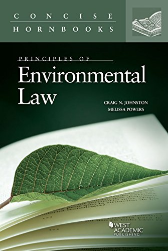 9780314195180: Principles of Environmental Law (Concise Hornbook Series)