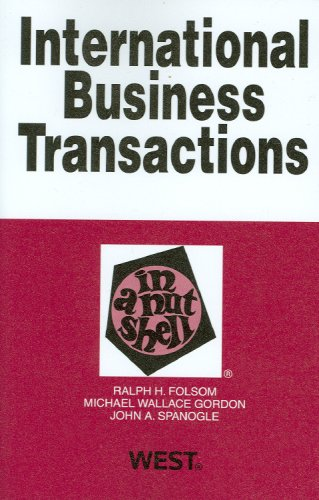 9780314195210: International Business Transactions in a Nutshell (In a Nutshell (West Publishing))