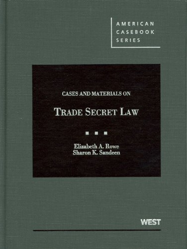 9780314195265: Cases and Materials on Trade Secret Law (American Casebooks) (American Casebook Series)