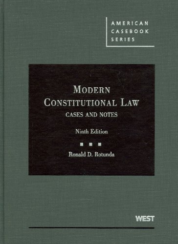 9780314195661: Modern Constitutional Law: Cases and Notes (American Casebook)