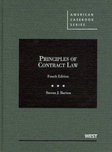 9780314195838: Principles of Contract Law (American Casebook Series)