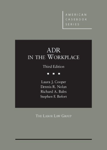 9780314195883: ADR in the Workplace (American Casebook Series)