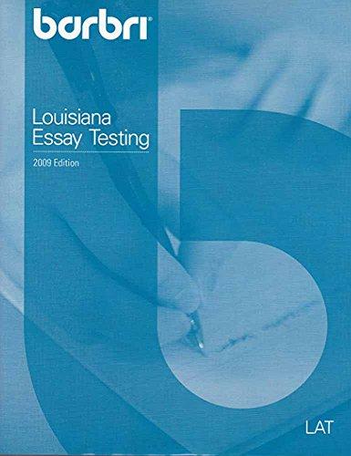 9780314196903: Barbri Louisiana Essay Testing