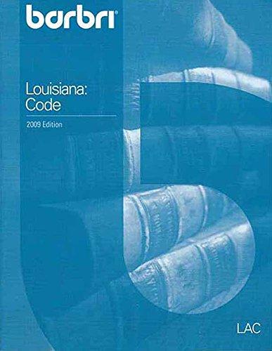 9780314196958: Barbri Louisiana: Code