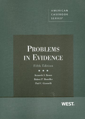 9780314198891: Problems in Evidence (Coursebook)