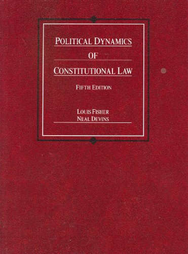 9780314199379: Political Dynamics of Constitutional Law (Coursebook)