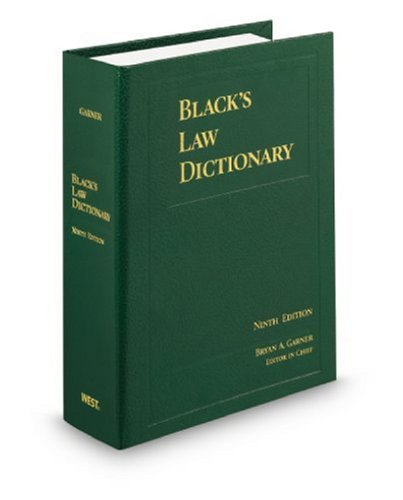9780314199492: Black's Law Dictionary, Standard Ninth Edition