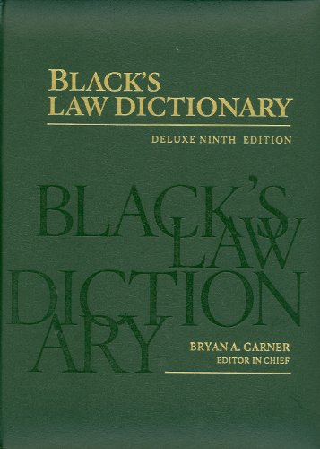 9780314199508: Black's Law Dictionary: Deluxe Ninth Edition (Black's Law Dictionary (Thumb-Index))