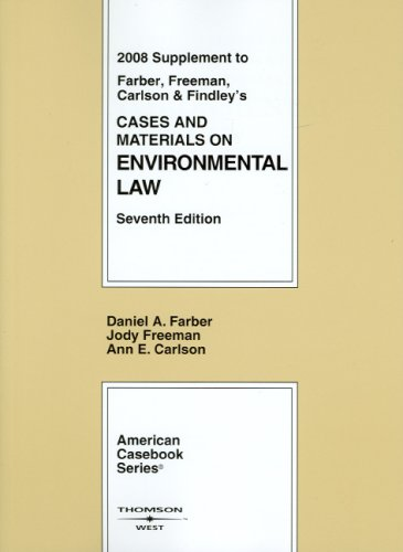 9780314200075: Cases and Materials on Environmental Law, 7th, 2008 Supplement (American Casebooks)