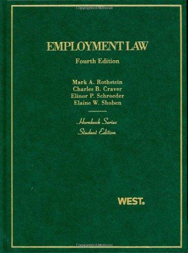 9780314200143: Hornbook on Employment Law, 4th (Hornbooks)