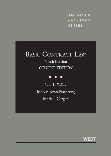 9780314200341: Basic Contract Law, 9th Concise Edition (American Casebook)