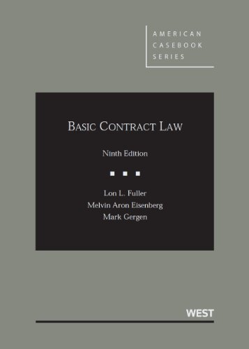 9780314200358: Basic Contract Law, 9th Edition (American Casebook Series)