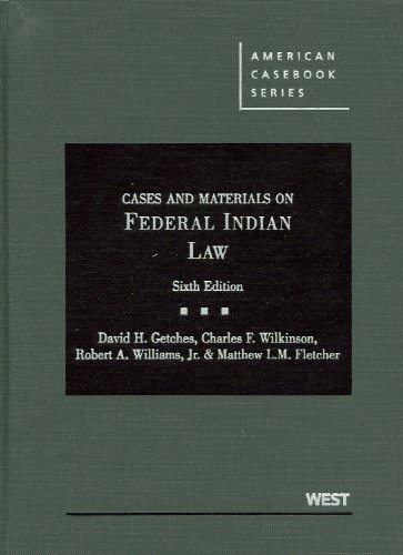 9780314200372: Cases and Materials on Federal Indian Law (American Casebook Series)