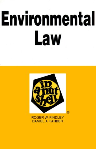 9780314200624: Environmental Law in a Nutshell (Nutshell Series)