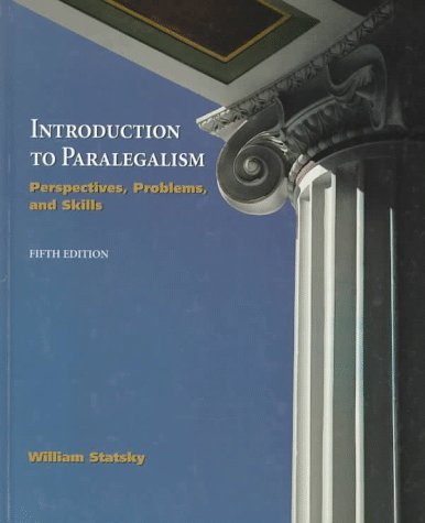 9780314201478: Introduction to Paralegalism: Perspectives, Problems, and Skills