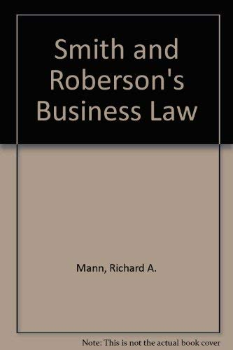 9780314202277: Smith and Roberson's Business Law