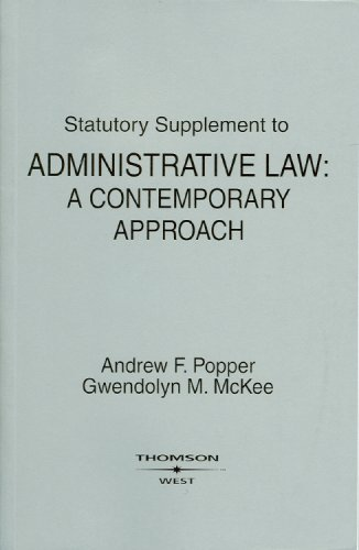 9780314202581: Statutory Supplement to Administrative Law: A Contemporary Approach (American Casebook Series)