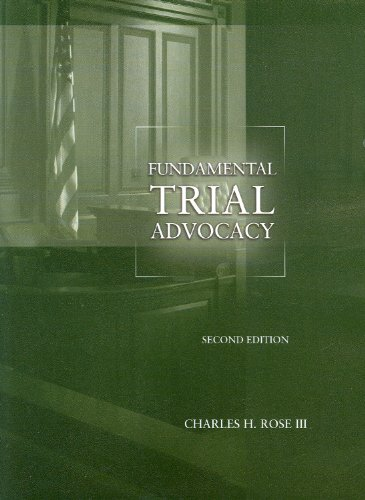 9780314202833: Fundamental Trial Advocacy, 2d (American Casebook Series)