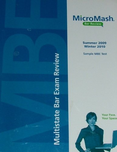 Micromash Multistate Bar Exam Review (Sample MBE: Thomson Reuters Micromash