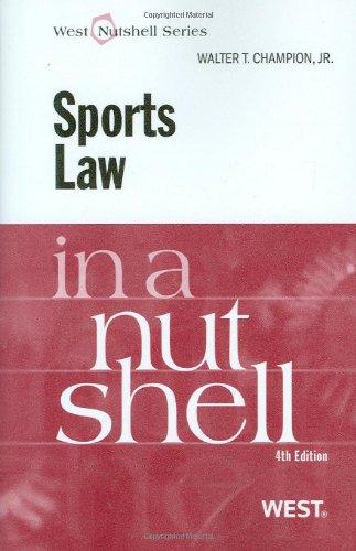 9780314204462: Sports Law in a Nutshell (English and English Edition) (Nutshells)
