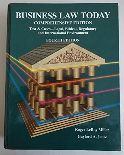 9780314204905: Business Law Today, Comprehensive Edition: Text, Cases, Legal, Ethical, Regulatory, and International Environment