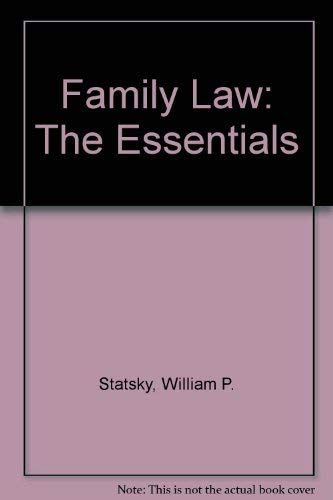 9780314205940: Family Law : The Essentials