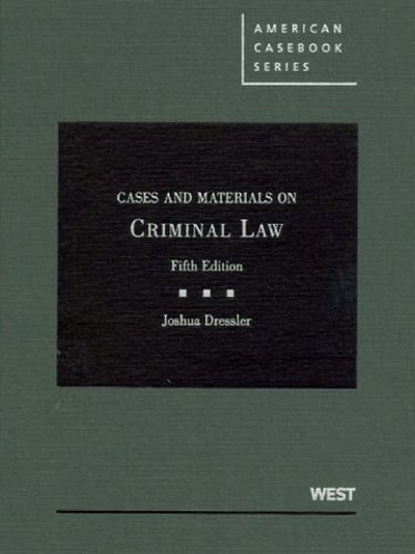 9780314206459: Cases and Materials on Criminal Law (American Casebook Series)