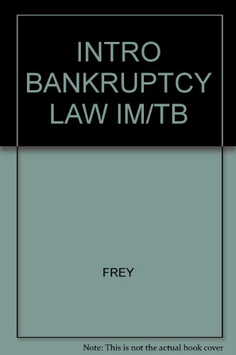 9780314206862: Introduction to Bankruptcy Law