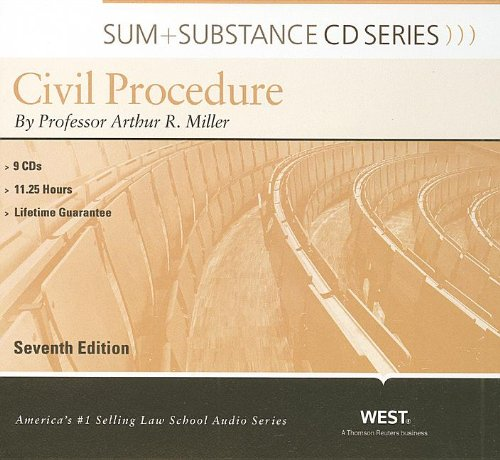 9780314207159: Sum and Substance Audio on Civil Procedure