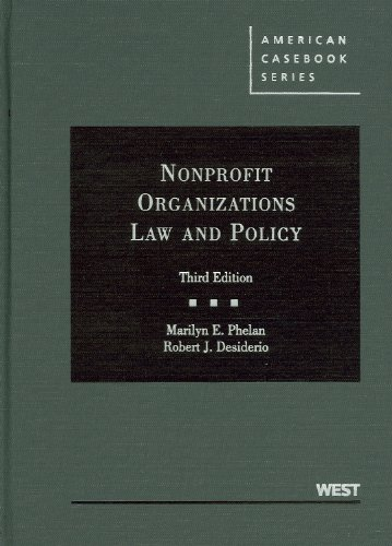 9780314207579: Nonprofit Organizations Law and Policy