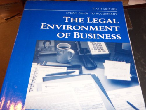 9780314207708: Study Guide for Legal Environment of Business (La Business Law)