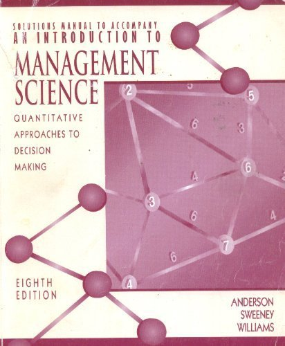 9780314208002: Solution Book to an Introduction to Management Science