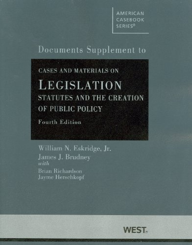 9780314208163: Cases and Materials on Legislation, Statutes and the Creation of Public Policy (American Casebook Series)