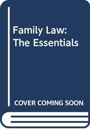 Study Guide to Accompany Family Law: The Essentials (9780314208385) by Statsky, William P.