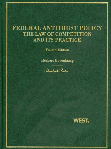9780314210050: Federal Antitrust Policy, The Law of Competition and Its Practice, 4th (Hornbook) (Hornbooks)