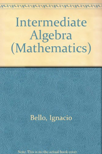 9780314210166: Student Solutions Manual for Bello's Intermediate
