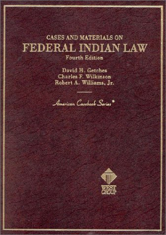 9780314211255: Cases and Materials on Federal Indian Law (American Casebook Series)