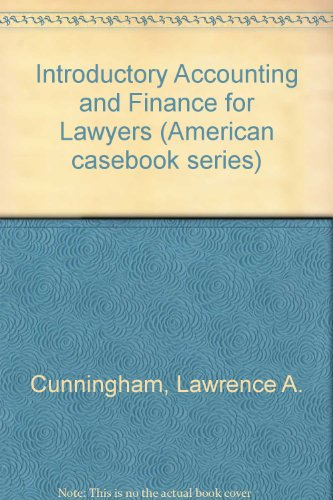 9780314211385: Introductory Accounting and Finance for Lawyers (American Casebook Series)