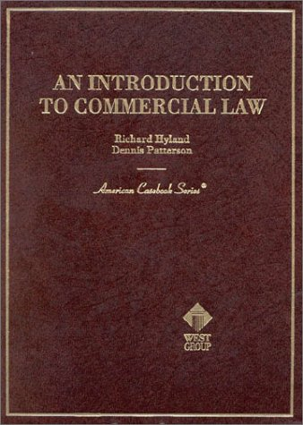 9780314211453: An Introduction to Commercial Law (American Casebook Series)
