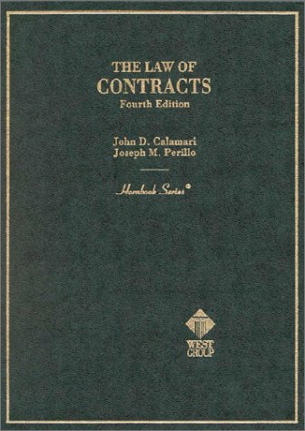 9780314211675: The Law of Contracts (Hornbook Series, 4th Edition) (HORNBOOK SERIES STUDENT EDITION)